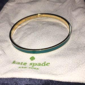 Kate Spade Gold Break the Ice Bangle Bracelet Teal